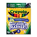 Crayola Broad Line Washable Markers - Set of 8 - Assorted Colors