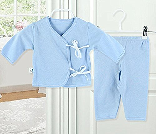 [icekon Comfortable Cotton Lacing Underwear 2 Piece Suits for Baby Sky Blue L Size] (Agent Carter Halloween Costume)
