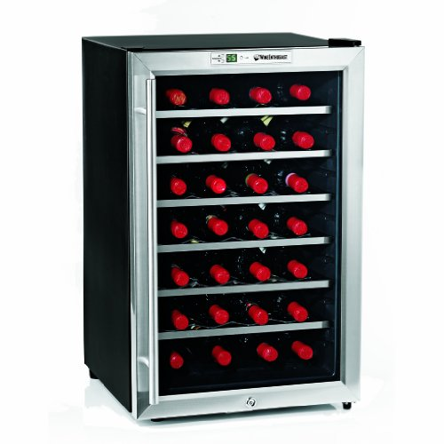 Wine Enthusiast Silent 28 Bottle Wine Refrigerator (Stainless Steel)