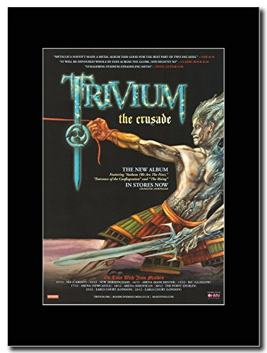 Trivium Crusade UK-Tour date 2006 Magazine Promo su un supporto, colore: nero