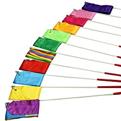 Estone 4M Gym Dance Ribbon Rhythmic Art Gymnastic Streamer Twirling Rod Stick 11 Colors from Estone