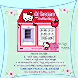 AT HOME with HELLO KITTY Collection - Issue / Part 1 includes: 1. Hello Kitty Display Cabinet 2. Hello Kitty Plates and Trays 3. At Home with Hello Kitty Magazine Issue 1 4. At Home with Hello Kitty Assembly Guide DVD ***