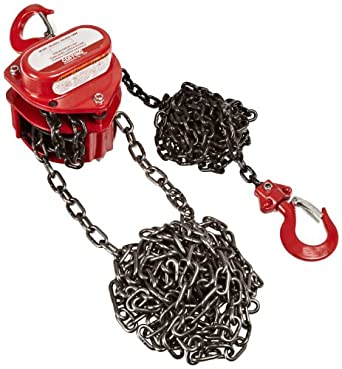 Coffing LHH-1/2B-10 Steel LHH Model Hand Chain Hoist with Hook, 10' Lifting Height, 1/2 Ton Load Capacity