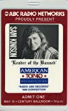 Sam Kinison 1990 Banned Tour Laminated Ticket Pass
