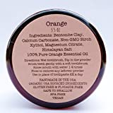 Organic Vegan Fluoride Free Tooth Powder Orange Formula 3.5oz Suitible For Children Of All Ages (3 month supply)