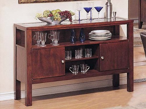 Cheap Server Sideboard Dark Brown Finish (VF_AZ00-39595×21516)