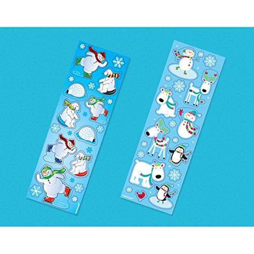 Winter Animals Sticker Strips