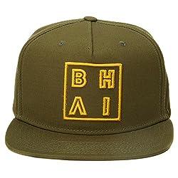 Urban Monkey Premium Green BHAI Adjustable Baseball Snapback Free Size Unisex Hip Hop Cap