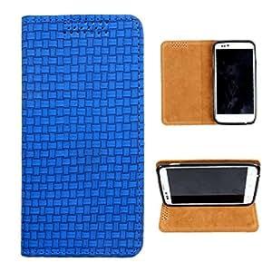 i-KitPit PU Leather Flip Case For Lava iris 455 (BLUE)