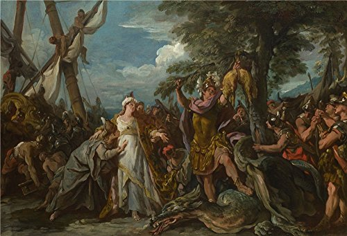 'Jean Franois Detroy The Capture Of The Golden Fleece ' Oil Painting, 8 X 12 Inch / 20 X 30 Cm ,printed On High Quality Polyster Canvas ,this Cheap But High Quality Art Decorative Art Decorative Prints On Canvas Is Perfectly Suitalbe For Wall Art Gallery Art And Home Decoration And Gifts