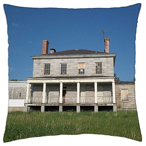 "Kennebec Arsenal Augusta, Maine 1 - Throw Pillow Cover Case (18"" x 18"")"