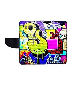 KolorEdge Printed Flip Cover For Samsung Galaxy On7 Multicolor - (1479-55KeMLogo11920SamOn7)