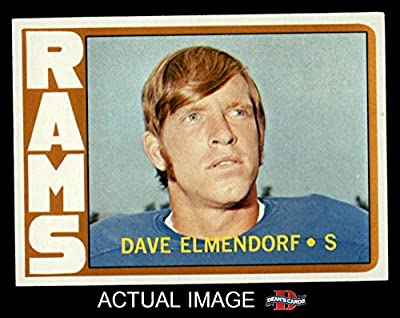1972 Topps # 109 Dave Elmendorf Los Angeles Rams (Football Card) Dean's Cards 7 - NM