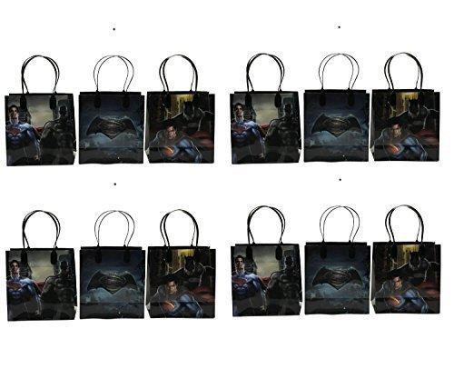 Marvel Batman v Superman Party Favor Gift Goodie Bag - 12 Pieces (Batman Supplies compare prices)