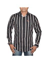 Hunk Men's Black Cotton Shirt - B00TB640KU