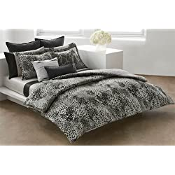 DKNY Illusion Duvet Set, Gray, Queen
