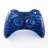 Product  - Product title Clear Blue Tiger Stripes Custom Controller Shell for Xbox 360