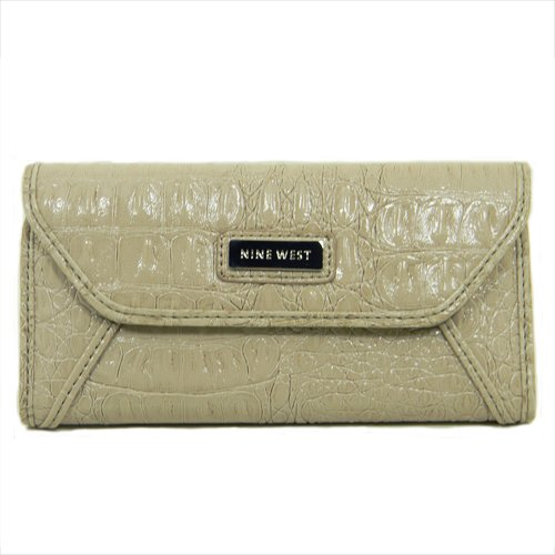 nine-west-womens-croc-rock-checkbook-wristlet-ivory