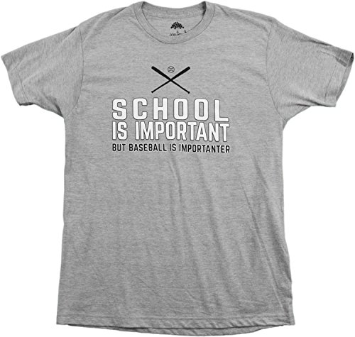 School is Important but Baseball is Importanter | Funny Sports Unisex T-shirt-(Adult,L) (Pitcher Tshirt compare prices)