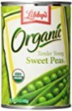 Libby's Organic Sweet Peas, 15-Ounces Cans (Pack of 12)