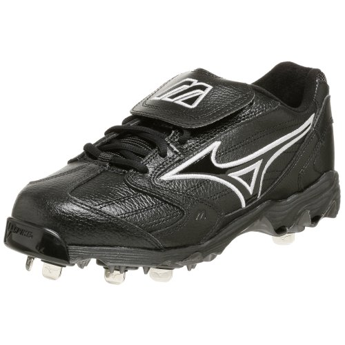 pictures of Mizuno Men's 9-Spike Classic Low G4 Cleat,Black,8 M