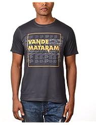 Kuroki Vande Mataram- Mens Grey Colour Round Neck Tshirts