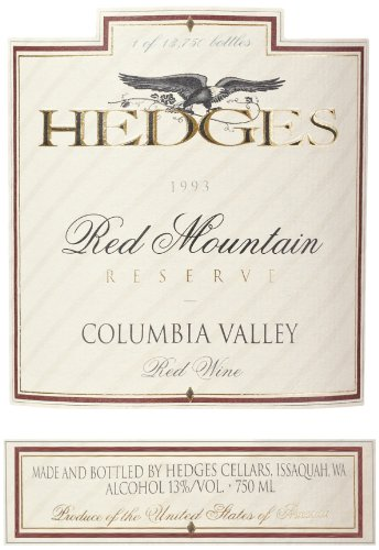 1993 Hedges Family Estate Red Mountain Reserve 750 Ml