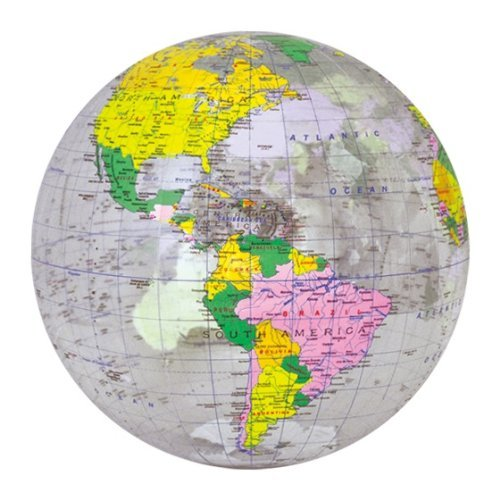 "Inflatable 16"" Clear Political Globe,Inflatable Children's toys,Stuffed Toys,can be used for teaching - 1"