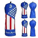 CRAFTSMAN(クラフツマン)Shining Star 星の輝き刺繍 ゴルフヘッドカバー レザー製 FW用 ブルー (星の輝き刺繍#3)