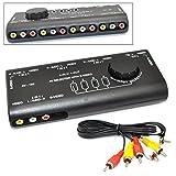 iKKEGOL AV-audio-video signal switcher AV セレクターS端子付き (AV-109)  4入力1出力【ブラック】
