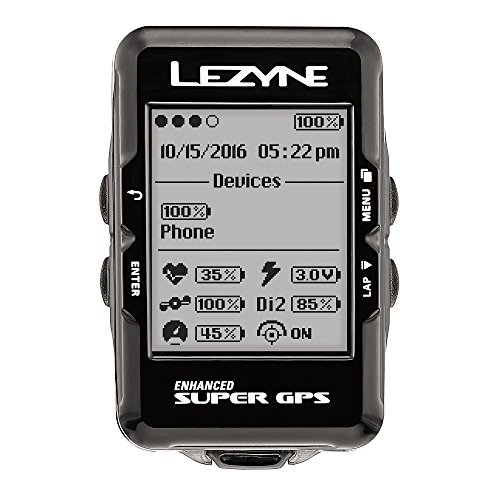 Lezyne Super GPS Bike Computer Black, One Size (Ant Cycling Computer compare prices)