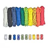 Paracord Planet Paracord Survival Bracelet Project Rainbow Combo Kit with 100 Feet in 10 Colors and 10 Buckles (Color: RAINBOW)