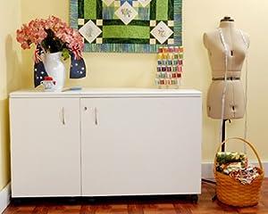 Kangaroo Kabinets K8611 Aussie, Large Sewing Cabinent, Ash White