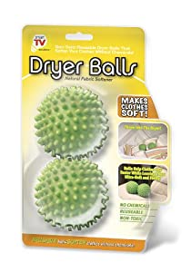 Smartworks 2 Piece Natural Fabric Softening Dryer Balls