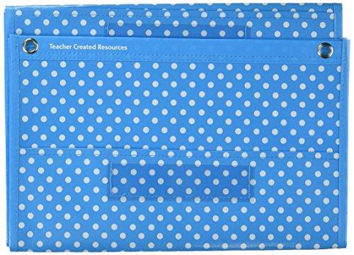 Teacher Created Resources Aqua Polka Dots 10 Pocket File Storage Pocket Chart (20738) (Dot Chart compare prices)