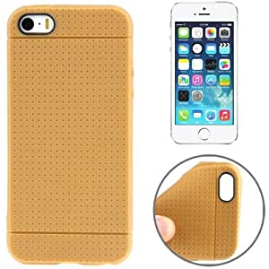 Dots Pattern TPU Case for iPhone 5 & 5S (Brown)