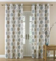 Contemporary Leaf Eyelet Curtains