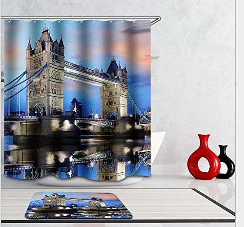 Modern Design Rust Proof Fashion City Shower Curtains, Width X Height / 72 X 80 Inches / W * H 180 By 200 Cm, Polyerster, Best For Wife