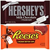 Set of 2 Giant 1lb Candy Bars Hershey Reese's Cup Valentine's Day Gift Chocolate Bulk