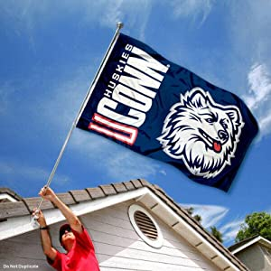 Buy Connecticut Huskies UCONN University Large College Flag by College Flags and Banners Co.