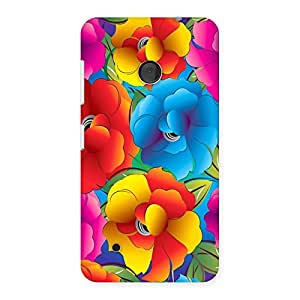 Cute Flower Art Print Back Case Cover for Lumia 530