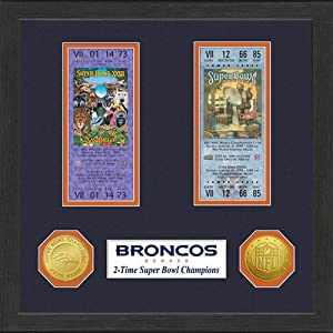 Denver Broncos Super Bowl Championship Ticket Collection by Highland Mint