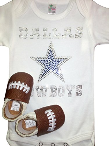 FanGarb Baby Infant Toddler Dallas Cowboys Crystal Bodysuit & shoes
