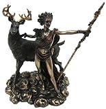 10.25 Inch Greek Goddess Diana Artemis and Moon Statue Figurine