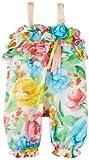 Bonnie Baby-Girls Newborn Cabbage Rose Print Coverall