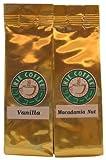 リエコーヒー フレーバーコーヒートライアルセットD(マカダミアナッツ+バニラ 50g× 2袋)