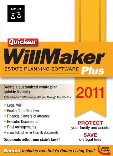 Nolo quicken willmaker plus 2011