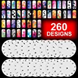 GotHobby 20 Airbrush Nail Stencil Sheets Design Art Paint Pages 1-20
