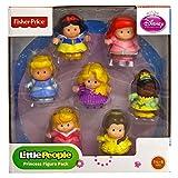 Fisher-Price Little People Disney Princess Figures: Cinderella, Ariel, Rapunzel, Tiana, Belle, Snow White, & Aurora