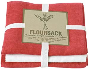Now Designs Floursack Set, Red